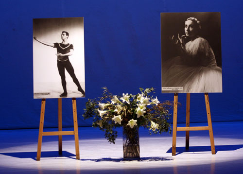 Left Picture - This year's competition is dedicated to the memory of Moshe Lazra. Right Picture - Mia Arbatova (1911-1990)