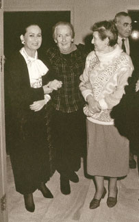 Suzanne Dellal Center - 1989 Gala in the presence of Mia Arbatova - her last photo